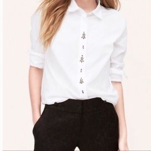 Ann Taylor LOFT | The Softened Embellished Shirt H